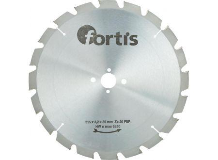 HW-Kreissägeblatt Längsschnitt-Flachzahn Fortis Außendurchmesser:315mm