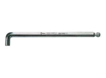 Sechskant-Winkelschraubendreher WERA mit Kugelkopf Schlüsselweite:3,0mm