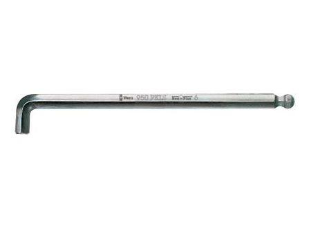 Sechskant-Winkelschraubendreher WERA mit Kugelkopf Schlüsselweite:6,0mm