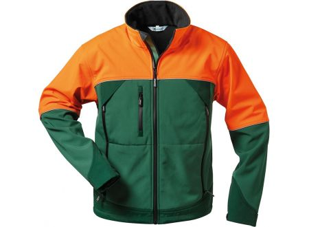 Fortis Forstjacke Sanddorn Softshell grün-orange XL/58-60 bei handwerker-versand.de günstig kaufen