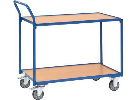 Fetra Tischwagen 250kg 2 Böden blau Ladefläche L x B:1000 x 600mm