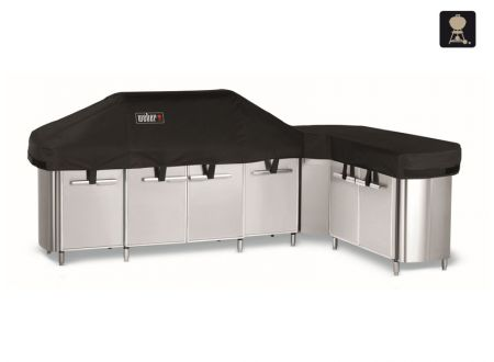 weber abdeckhaube premium f r q serie genesis spirit summit summit grill center kaufen. Black Bedroom Furniture Sets. Home Design Ideas