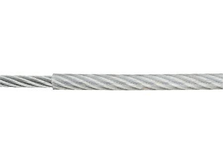 Ruck-Zuck Stahlseil PVC-ummantelt Durchmesser:3/4mm