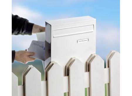 Burg-Wächter Zaunbriefkasten LEIPZIG 778 Farbe:weiß