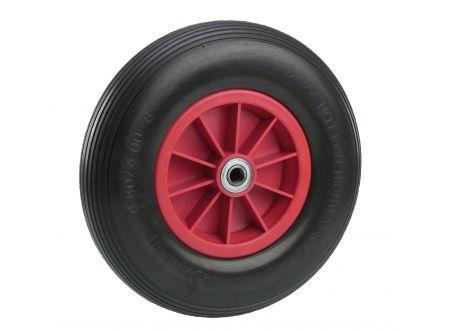 Pannensicheres Rad - Felge rot Profil:Rillen