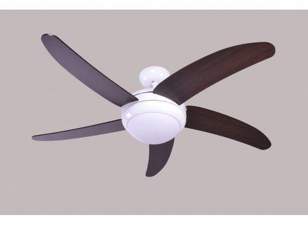 Deckenventilator Makkura Farbe Gehäuse:weiß Farbe Flügel:Braun/Wanaque Steuerung:ohne
