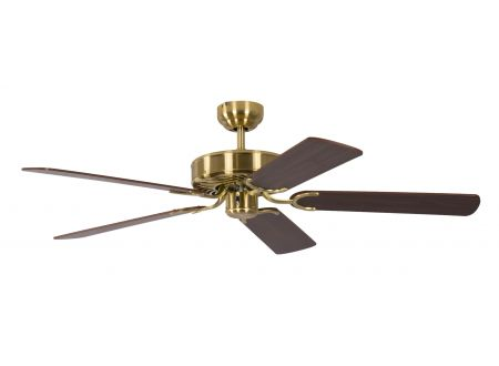 Ventilator Potkuri Farbe Gehäuse:Messing seidenmatt Farbe Flügel:Wallnuss-Rattan