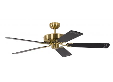 Ventilator Potkuri Farbe Gehäuse:Messing seidenmatt Farbe Flügel:Schwarz-gestreift