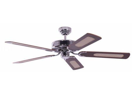 Ventilator Potkuri Farbe Gehäuse:Stahl Farbe Flügel:Mahagonie-Rattan