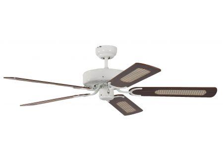 Ventilator Potkuri Farbe Gehäuse:weiß Farbe Flügel:Wallnuss-Rattan