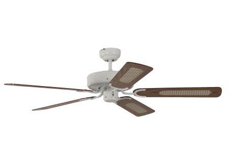 Ventilator Potkuri Farbe Gehäuse:weiß Farbe Flügel:Eiche-Rattan