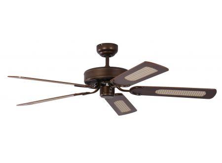 Ventilator Potkuri Farbe Gehäuse:gealterte Bronze Farbe Flügel:Mahagonie-Rattan