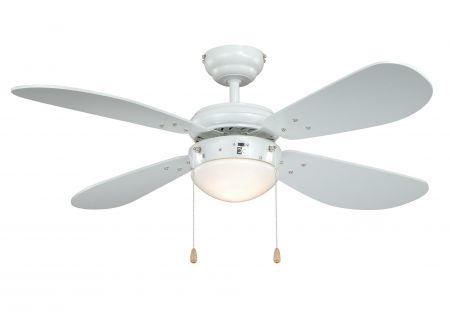 Deckenventilator Classic Farbe Flügel:weiß Farbe Gehäuse:weiß