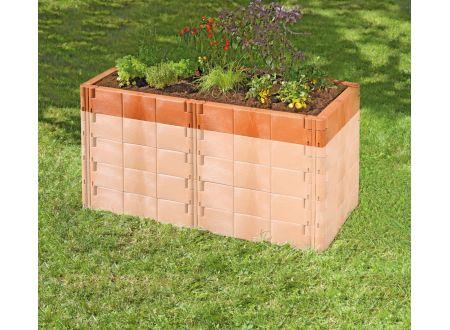 juwel aufbausatz mit stabilisierungs set f r hochbeet profiline terracotta kaufen. Black Bedroom Furniture Sets. Home Design Ideas