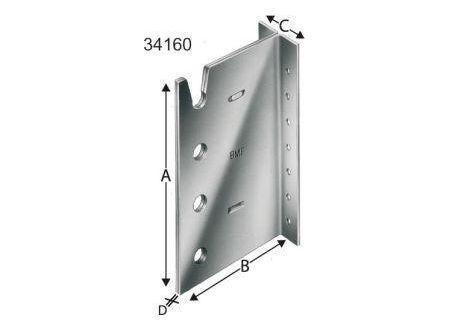 Dresselhaus Balkenträger BTN Simpson Länge:200 mm Lieferumfang: 15 Stück