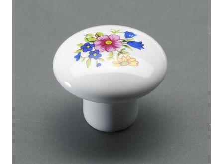 Hettich International Möbelknopf mit Porzellan Durchmesser:35mm Blume