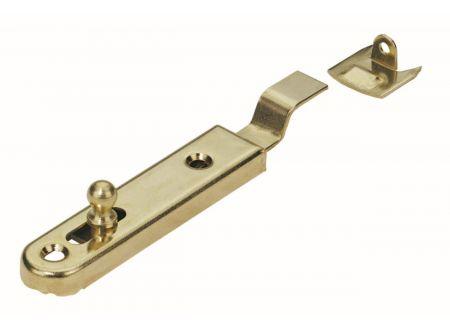 Möbelriegel  Material:vermessingt Länge:70mm Richtung:gekröpft