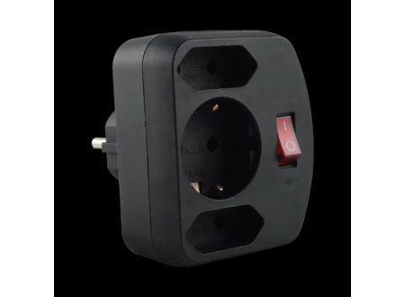 Kombi-Adapter mit Schalter Farbe:schwarz