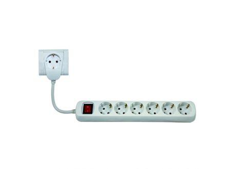 Powersplit Steckdosenleiste mit Schalter Ausführung:6-fach