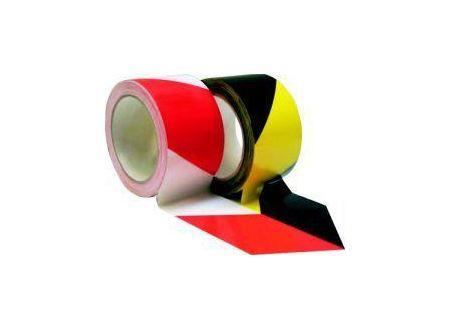 Warnband selbstklebend 66m x 60mm  Farbe:rot/weiß