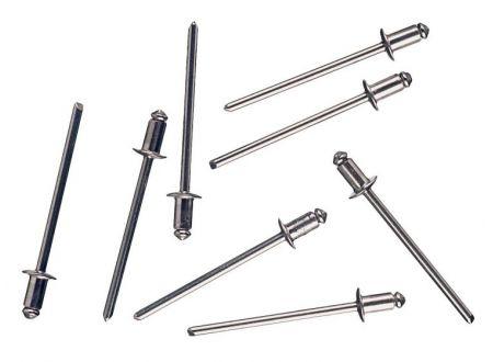 Blindnieten Aluminium Durchmesser:4,0mm Länge:6mm Inhalt:50 Stück