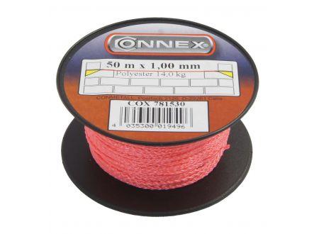 Maurerschnur Polyethylen Durchmesser:1,0mm Länge:50m Farbe:rot