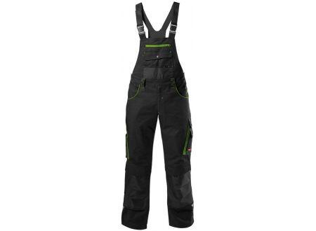 Fortis Herren-Latzhose schwarz-grün 34 bei handwerker-versand.de günstig kaufen