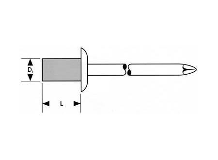 Blindniet Standard FORTIS Nietschaft:4,8x14mm