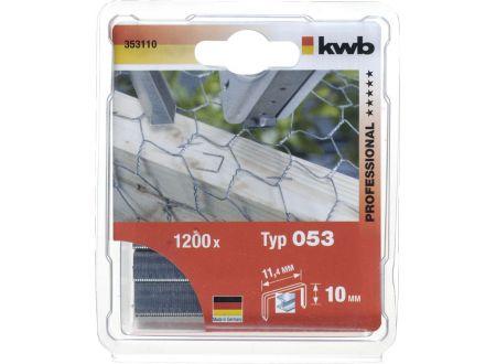 1000 Heftklammern Stahl Typ:53 Größe:10mm