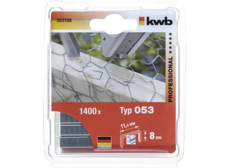 1000 Heftklammern Stahl Typ:53 Größe:8mm