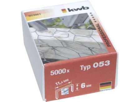 5000 Heftklammern Stahl Typ:Typ 053  Größe:6mm