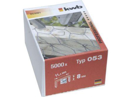 5000 Heftklammern Stahl Typ:Typ 053  Größe:8mm