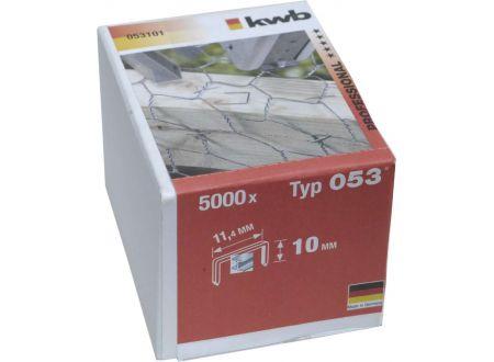 5000 Heftklammern Stahl Typ:Typ 053  Größe:10mm