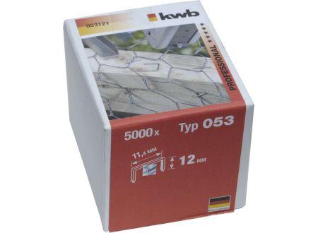 5000 Heftklammern Stahl Typ:Typ 053  Größe:12mm