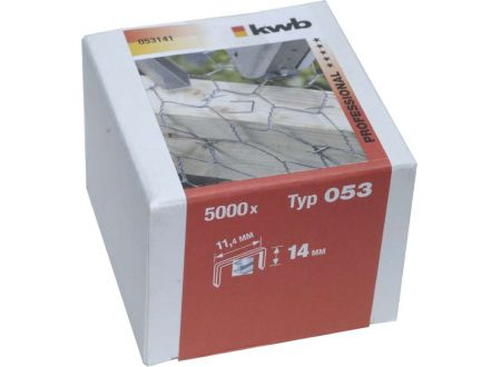5000 Heftklammern Stahl Typ:Typ 053  Größe:14mm