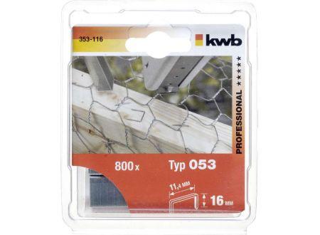 Heftklammern Stahl flach Typ:053/C16mm