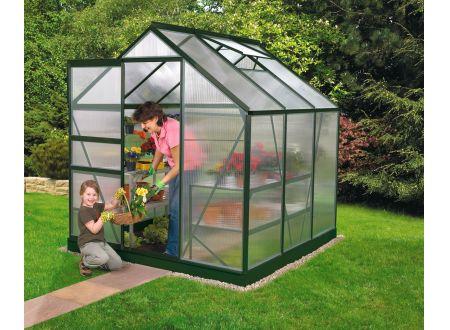 Gewächshaus Venus 3,8m² HKP 4mm grün bei handwerker-versand.de günstig kaufen