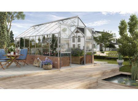 Gewächshaus Cassandra 11,5m² Aluminium-Blank ohne Sockelmauer bei handwerker-versand.de günstig kaufen