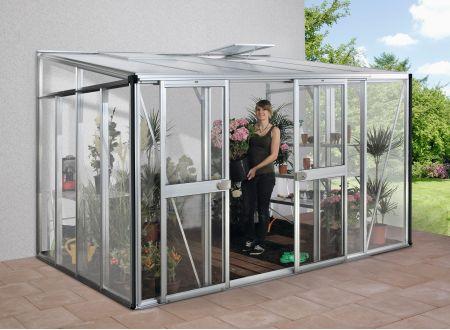 Gewächshaus Helena 8,6m² Aluminium-Blank bei handwerker-versand.de günstig kaufen