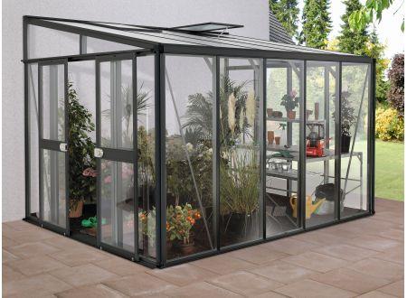 Gewächshaus Helena 8,6m² dunkelgrau bei handwerker-versand.de günstig kaufen