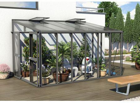 Gewächshaus Helena 10,2m² dunkelgrau bei handwerker-versand.de günstig kaufen