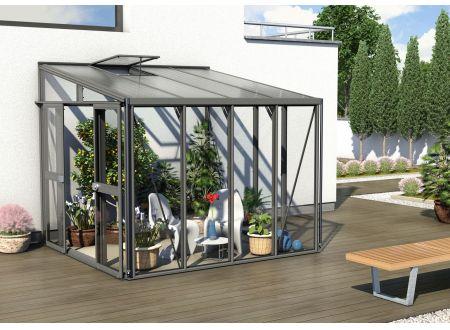 Gewächshaus Helena 7,0m² dunkelgrau bei handwerker-versand.de günstig kaufen