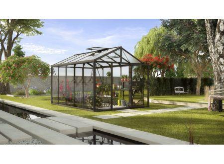 Gewächshaus Zeus 10,0m² ESG 4mm u. HKP 10mm schwarz bei handwerker-versand.de günstig kaufen