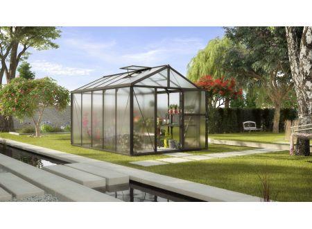 Gewächshaus Zeus 10,0m² HKP 10mm schwarz bei handwerker-versand.de günstig kaufen