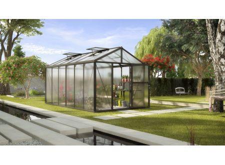 Gewächshaus Zeus 11,9m² HKP 16mm schwarz bei handwerker-versand.de günstig kaufen