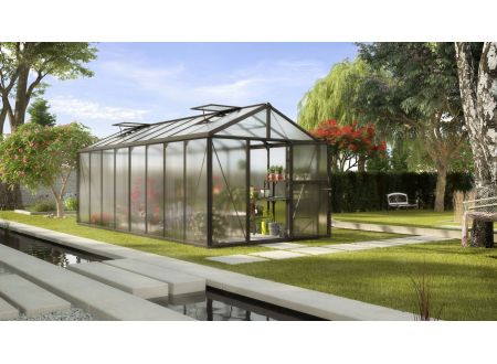 Gewächshaus Zeus 15,7m² HKP 16mm schwarz bei handwerker-versand.de günstig kaufen