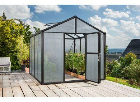 Gewächshaus Zeus 8,1m² HKP 10mm schwarz bei handwerker-versand.de günstig kaufen