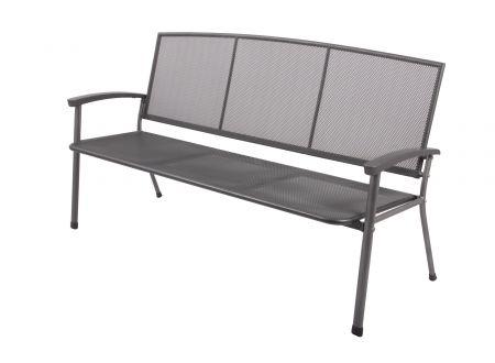 FRG Gartenbank RIVO 3-sitzer aus Streckmetall Ausführung:3-Sitzer
