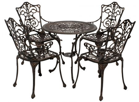 frg gartenset jugendstil bronze antik 5 teilig kaufen. Black Bedroom Furniture Sets. Home Design Ideas