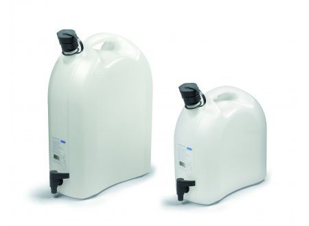 Wasserkanister mit Ablasshahn und Auslaufrohr L...